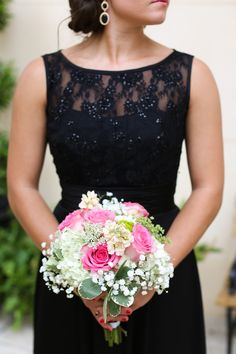 Timeless and elegant #black and lace #bridesmaids #dresses.