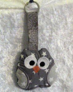 3 D Eule Sterne Schlüsselanhänger,Taschenbaumler von ღKreawusel-Designღ auf DaWanda.com