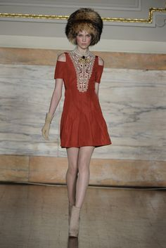 Temperley London --- The plunging bib embroidery plus cut-out shoulders....beautiful!