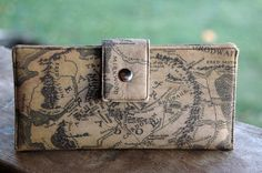 Womens clutch Wallet handmade custom clutch in lord of the rings middle earth by happykathy on Etsy https://www.etsy.com/listing/211165464/womens-clutch-wallet-handmade-custom