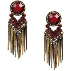 Yoins Red Jewelry Tassel Earrings ($6.07) ❤ liked on Polyvore featuring jewelry, earrings, yoins, accessories, orecchini, red, brass earrings, brass jewelry, red jewelry and red earrings