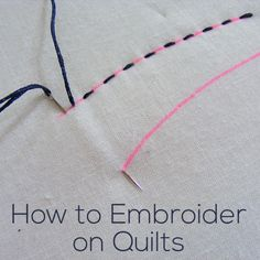 How to Embroider on