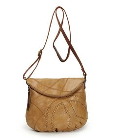 Love this Camel Peace Deena Leather Crossbody Bag by The Sak on #zulily! #zulilyfinds