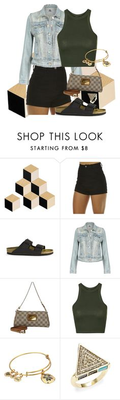 """""""C"""" by star-lightt ❤ liked on Polyvore featuring Areaware, Wrangler, Birkenstock, Louis Vuitton, Topshop, Alex and Ani and House of Harlow 1960"""