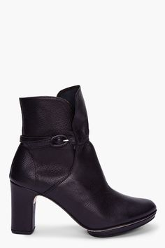 REPETTO Black Leather Ankle Boots