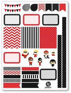 Incredible Family Decorating Kit / Weekly Spread by KGPlanner