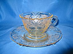 HEISEY SAHARA OLD COLONY CUP & SAUCER SET. Click on the image for more information.