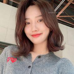 Midi Hair, Medium Hair Styles, Short Hair Styles, Beauty Makeup, Hair Beauty, Dream Hair, Medium Long, Asian Beauty, Swag