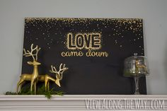 DIY Christmas art! Gold leaf on canvas