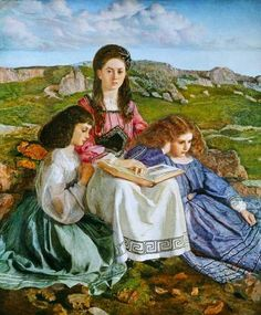 The Three Sisters of Dean Liddell by William Blake Richmond, 1842-1921, English.