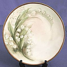 Vintage Silesia Hand Painted Lily of the Valley Plate (Image1)