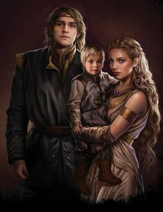 Viserys II with his wife and his son / Viseris II avec sa femme et son fils