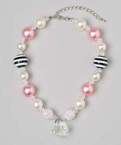 Blue & Pink Chunky Gem Necklace   Daily deals for moms, babies and kids
