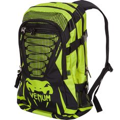 Venum Challenger Pro Backpack - Neon Green/Black #Venum #muayThai #thaipads #gloves #shinguards #headgear #msmfightshop #boxing #thailand #mouthguard #gear #shirts #handwraps #gelwraps #hats #dufflebags #fightshorts #shorts #rashguard #spats #kimono #gi #jiu-jitsu #jiujitsu #jiu #jitsu