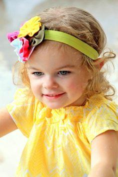 FANCY WHEEL  Little Girl Headband Girl by LadyRoyalCouture on Etsy, $12.00