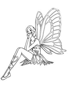 Fairy Daydream Coloring Page