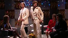 Barry Gibb (Jimmy Fallon) and his brother Robin (Justin Timberlake) yell at Ann Coulter (Drew Barrymore) about her face, Bill Richardson (Horatio Sanz) for patronizing him, and Nancy Pelosi (Cameron Diaz) for calling him Barry. [Season 30, 2005]
