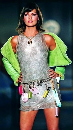 Linda Evangelista -  Atelier Versace, Fall 1994. Haute Couture
