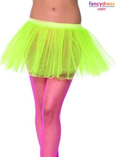 Neon tutus add the right amount of bright to your 80s costume **We ship worldwide** Take a look: http://www.fancydress.com/costumes/Yellow-Tutu-Underskirt/0~1271892