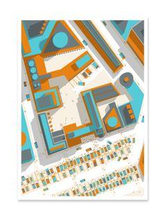Aerial Ilration Of Yerba Buena By Philippe Nicolas