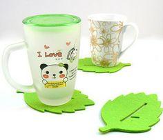 Creative Green Leaf Cup Pads/Coasters
