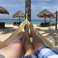 Lounging on the beach without a care in the world at Secrets Aura Cozumel! Thanks to Jeremy Z. for sharing!