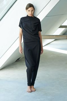 Noir coton Blouse / Short oversize à manches par AryaSense sur Etsy