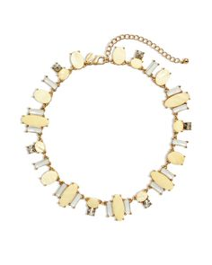 Chico's Women's Pria Bib Necklace, Yellow, Size: One Size
