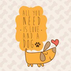 Almofada I <3 dogs do Studio Karenrulez por R$55,00