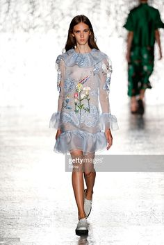 A model walks the runway at the Vivetta show Milan Fashion Week Spring/Summer 2017 on September 24, 2016 in Milan, Italy.