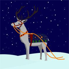 Le renne du Père-Noël est bientot prêt à partir !