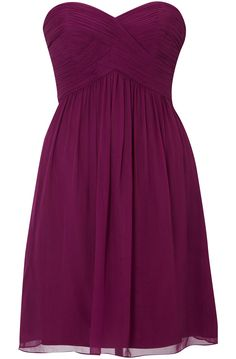sangria bridesmaid dress.