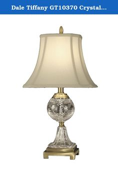 "Dale Tiffany GT10370 Crystal Table Lamp, Antique Brass and Fabric Shade. The Sutton Table Lamp is created using the finest solid crystal(s). The clarity and shape of the crystal(s) used to create the Sutton Table Lamp will not just illuminate but decorate any space in your home. Features: Base Finish: Antique Brass Material: Metal, Crystal Socket: 3WAY Number of Bulbs: 1 Wattage: 150W 3WAY Switch: Turn Knob Specifications: Overall Product Dimension: 24""H x 12""W x 12""D Product Weight: 7 lbs."