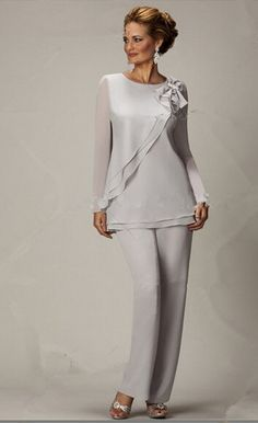 Find More Mother of the Bride Dresses Information about new style Two piece Chiffon mother of the bride pants suits Plus size,High Quality suit apparel,China pant hooks Suppliers, Cheap pants canvas from The groom dress on Aliexpress.com