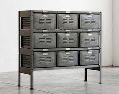4 x 3 Reclaimed Locker Basket Unit with by RehabVintageLA on Etsy