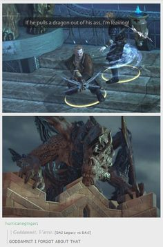 Corypheus and his dragon... SEE WHAT YOU DID, VARRIC???