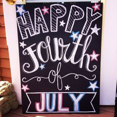 Fun and Festive 4th of July Chalkboard from www.everydayshouldsparkle.com