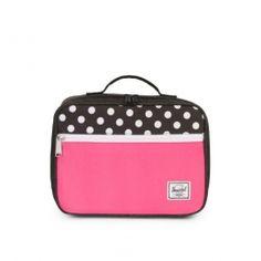 Herschel Pop Quiz Lunch Box (black pink polka dot) at Black Wagon Herschel d43fafd0fb