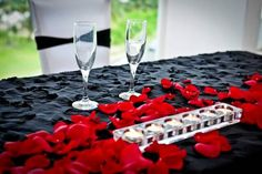 Black and red wedding at Comfort inn Levittown