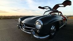 Poetry in Motion. 1955 Mercedes-Benz 300 SL gull­wing fea­tured in Josh Cla­son's lat­est Depth of Speed install­ment.