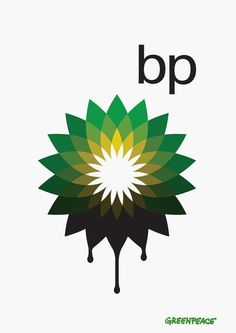 Greenpeace poster raising awarenes of BP's plans to extract oil from tar sands.