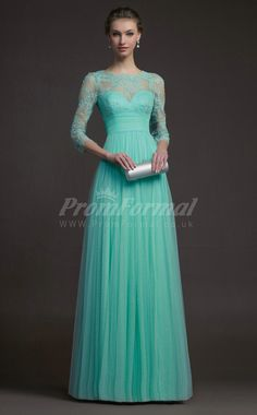Attractive Scalloped Tulle Floor-length Prom Dresses(PRJT04-0863)