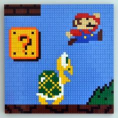 Tableau Mario Bros en briques Lego #lego #geek #mariobros