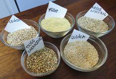 Cereais integrais (quinoa, cevada, trigo sarraceno
