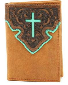 Nocona Trifold Cross Tab Wallet