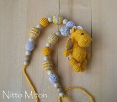 Crochet Teething necklace for mom Nursing necklace by NittoMiton