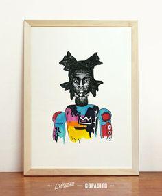Jean-Michel Basquiat Art Giclee - Print Wall Illustration - A4 - 8.3 x 11.7 in - 210 x 297 mm - Prints Shop