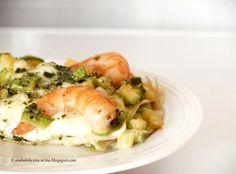 lasagna estiva con gamberi zucchine pesto e mozzarella di bufala #recipe #juliesoissons