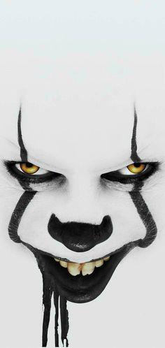 Scary Drawings, Joker Drawings, Dark Art Drawings, Joker Hd Wallpaper, Joker Wallpapers, Blue Ghost Rider, Harey Quinn, Clown Horror, Harley Quinn Halloween