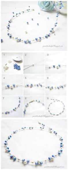 Easy Handmade Elegant Beaded Necklace Designs #tutorial #beadingnecklace #handmadenecklace #pandahall